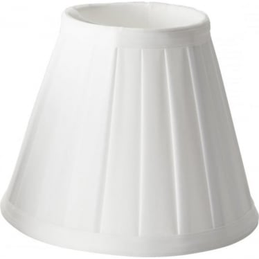Clip Shade Pleated White Candle Shade