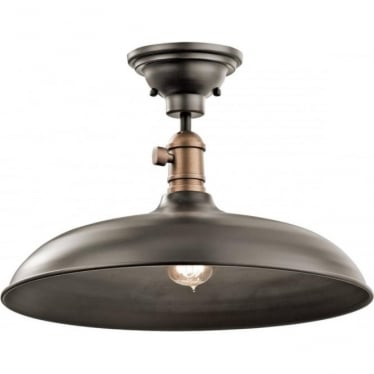 Cobson Single Pendant/Semi Flush (convertible) Olde Bronze