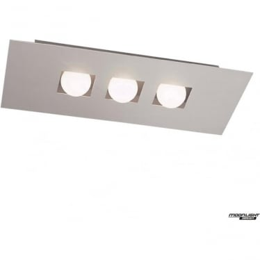 Cocoon 3 Light Flush Ceiling Fitting Silver
