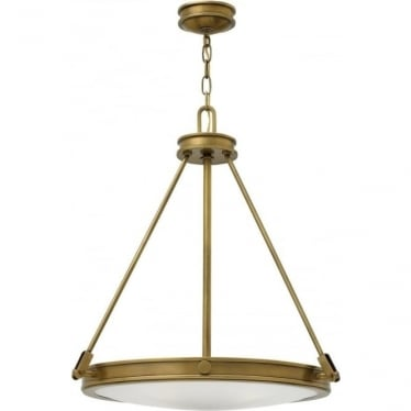Collier 4 Light Pendant Heritage Brass