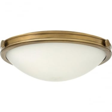 Collier Medium Flush Ceiling Heritage Brass
