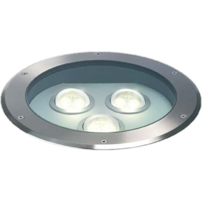 Collingwood Lighting GL009A Triple LED MAINS drive over ground light - stainless steel