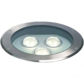 GL009A Triple LED MAINS drive over ground light - stainless steel