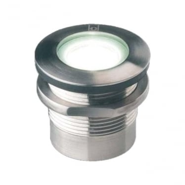 GL019 S T 1W Threaded Mini LED Gound Light - Stainless Steel - Low Voltage