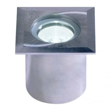 GL019 SQ 1W Square Mini LED Ground Light - Stainless Steel - Low Voltage