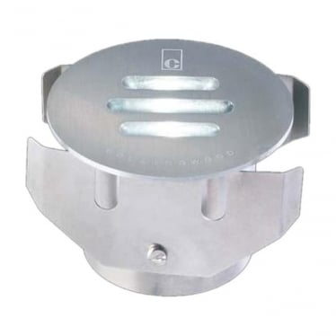 GL021 30 Degree Slotted LED Ground Light - Stainless Steel - Low Voltage