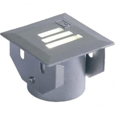 GL022 Square 30 Degree Slotted LED Ground Light - Cast Stainless Steel - Low Voltage