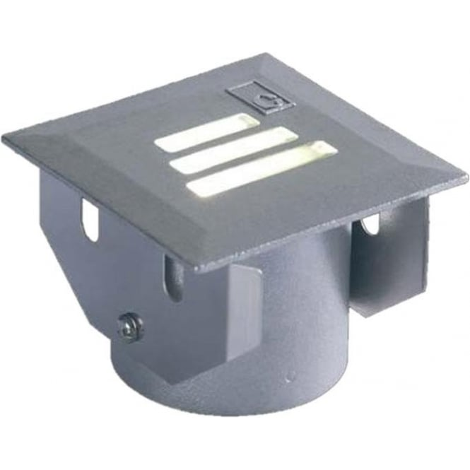 Collingwood Lighting GL022 square slotted LED ground lights - Cast stainless steel