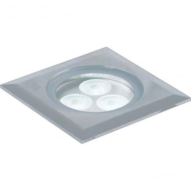 GL041 Square 3W LED Ground Light - Stainless Steel - Low Voltage