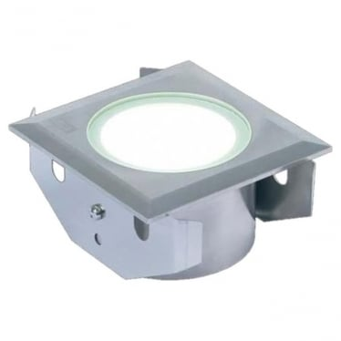 GL051 Square 3W LED Ground/Marker Light - Stainless Steel - Low Voltage