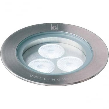 GL090 7W LED ground lights - stainless steel