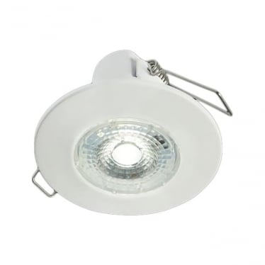H2 Lite FLICKER FREE DIMMABLE FIRE-RATED LED DOWNLIGHT WITH BEZEL - matt white
