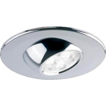 H4 Eyeball Adjustable Fire-Rated LED Downlight - Chrome