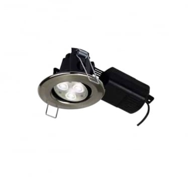 H4 Pro 550 +- 20 Degrees Adjustable, Dimmable, Fire-rated LED Downlight with Push-fit Terminal Connector