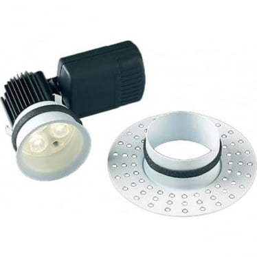 H5 Trimless, Dimmable, Fire-Rated, Plaster In, LED Downlight without terminal block - White