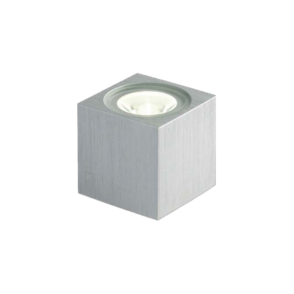 Collingwood lighting mc010 s mini cube led wall light aluminium mc010 s mini cube led wall light aluminium low voltage aloadofball Images