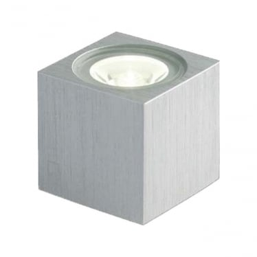 MC010 S mini cube LED wall light - Aluminium