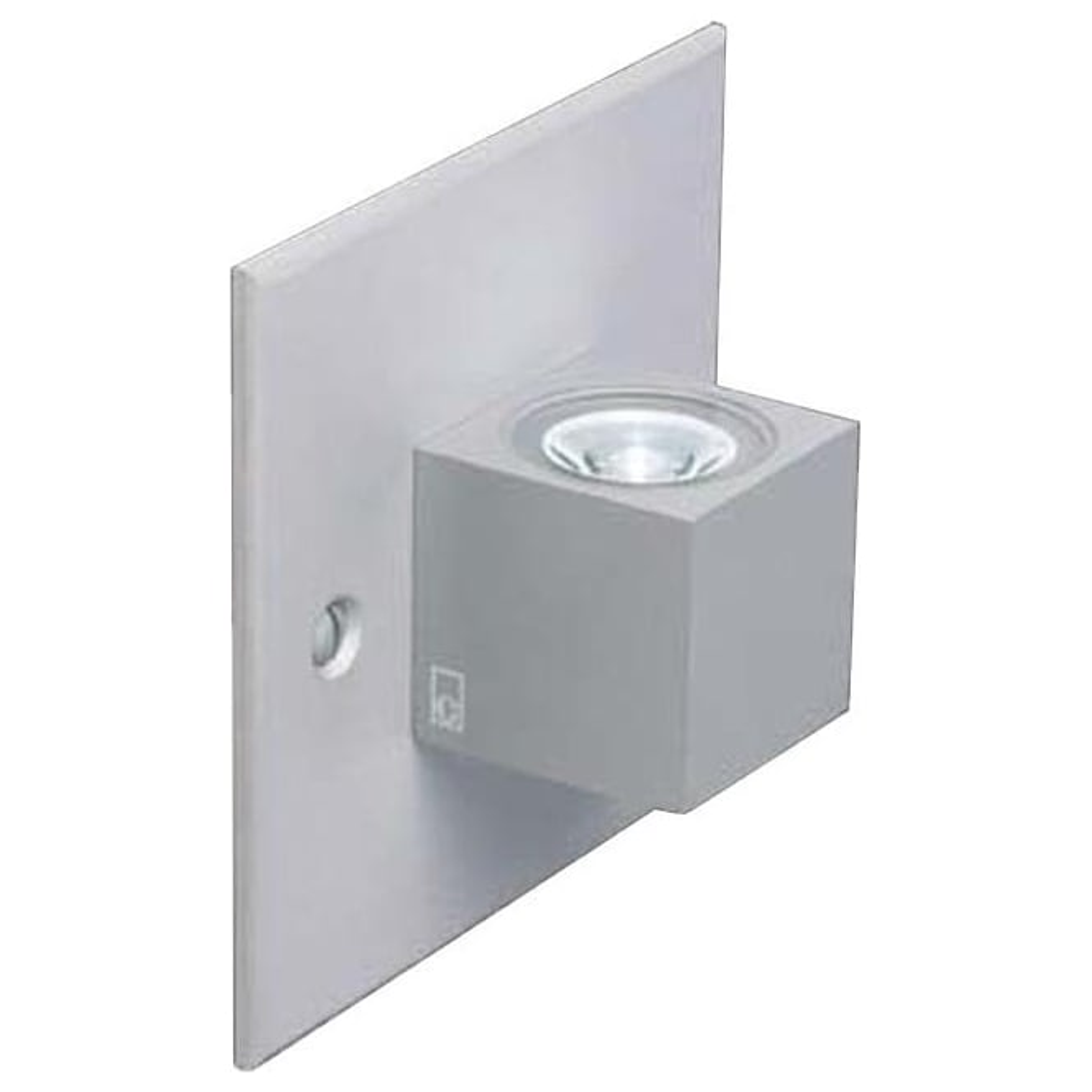 Collingwood Lighting MC015 S MAINS mini LED Cube wall light - Aluminium
