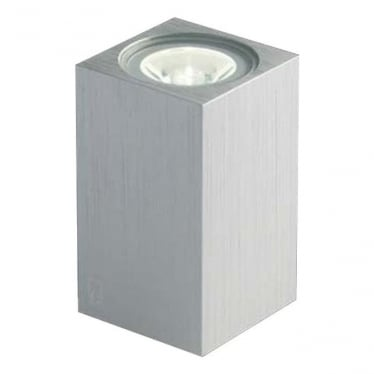 MC020 S up/down mini cube LED wall light - Aluminium