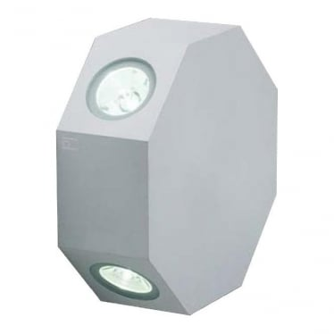OCTOLED Rotatable octagonal LED wall light - Aluminium - Low voltage
