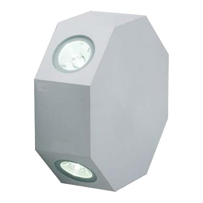 Collingwood Lighting OCTOLED Rotatable octagonal LED wall light - Aluminium