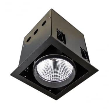 SQSL Large Recessed 32W Adjustable LED Downlight - Square - Low voltage