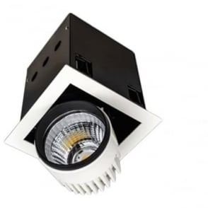 SQSM Medium Recessed 26W Adjustable LED Downlight - Square - Low voltage