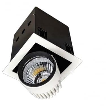 SQSM Medium Recessed 26W Adjustable LED Downlight - Square