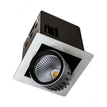 SQSS Small Recessed 13W Adjustable LED Downlight - Square - Low voltage