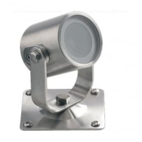 UL010RGBW Colour change LED light with bracket 5w - Stainless steel - Low voltage