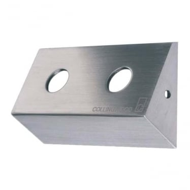 WB/M 02/30° Angled double bracket for MF02 IP & MS02 IP - Stainless steel 316