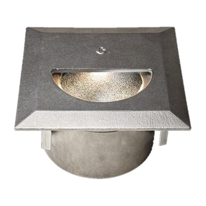Collingwood Lighting WL341 Asymmetric mains cast finish step light - Stainless steel