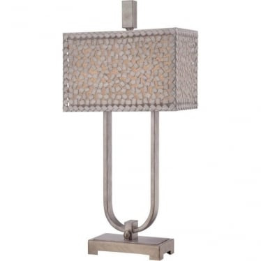 Confetti Desk Lamp Old Silver