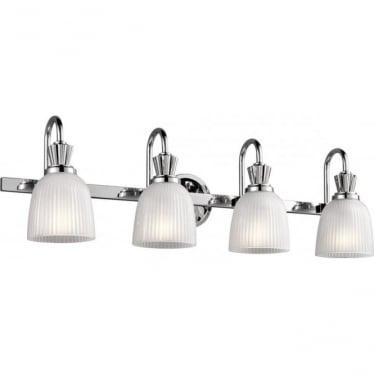 Cora 4 Light Bathroom LED Wall Light  Polished Chrome