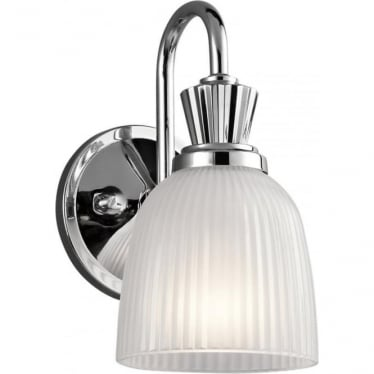 Cora Single Light Bathroom LED Wall Light  Polished Chrome