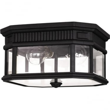 Cotswold Lane flush ceiling mount - Black