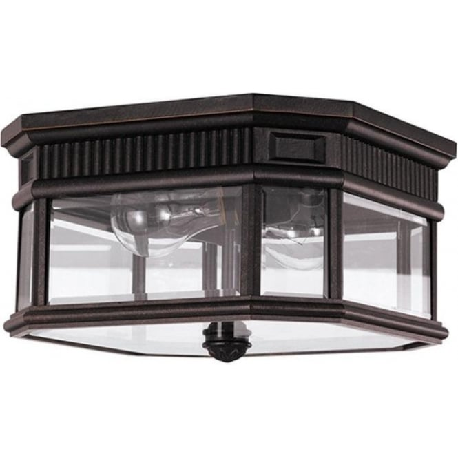 Feiss Cotswold Lane flush ceiling mount - Bronze