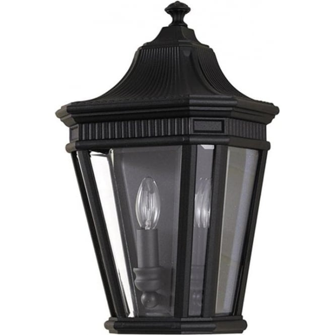 Feiss Cotswold Lane Half wall lantern - Black