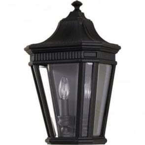 Cotswold Lane Half wall lantern - Black