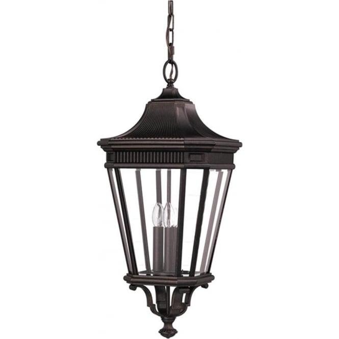 Feiss Cotswold Lane large chain lantern - Bronze