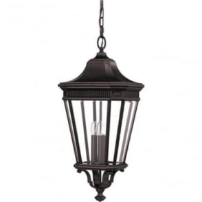 Cotswold Lane large chain lantern - Bronze