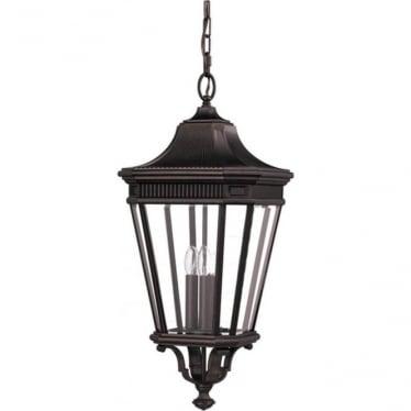 Cotswold Lane large chain lantern - Bronze
