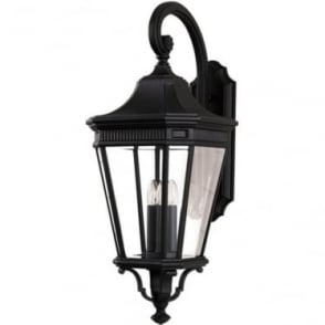 Cotswold Lane large wall lantern - Black