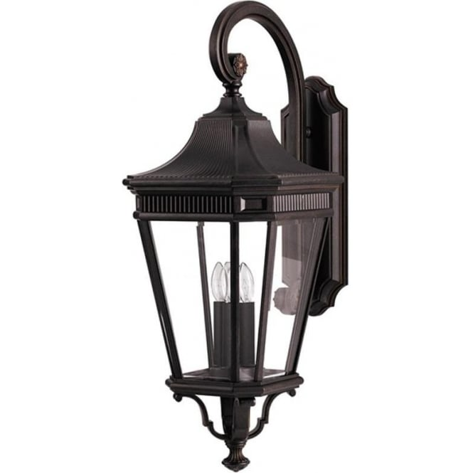 Feiss Cotswold Lane large wall lantern - Bronze