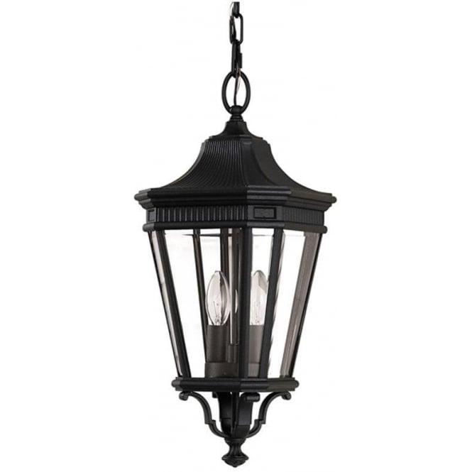 Feiss Cotswold Lane medium chain lantern - Black