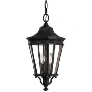 Cotswold Lane medium chain lantern - Black