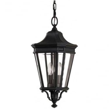 Cotswold Lane medium chain lantern - Black