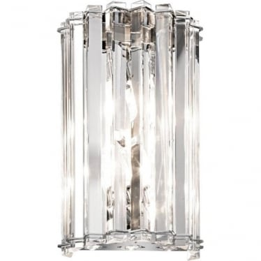 Crystal Skye 2 Light Bathroom LED Wall Light IP44 Polished Chrome