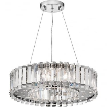 Crystal Skye  8 Light Bathroom LED Chandelier IP44 Polished Chrome