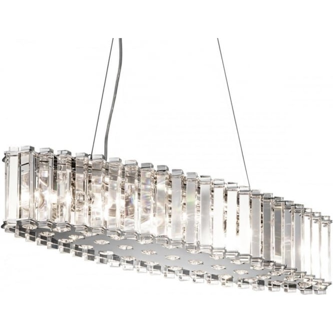 Elstead Lighting Crystal Skye Island LED Bathroom Chandelier IP44 Polished Chrome